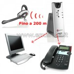 cuffia wireless w880 telefono-pc